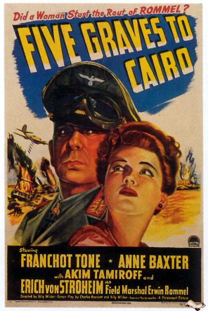 Poster von Five graves to Cairo, © Paramount Pictures, Inc.,