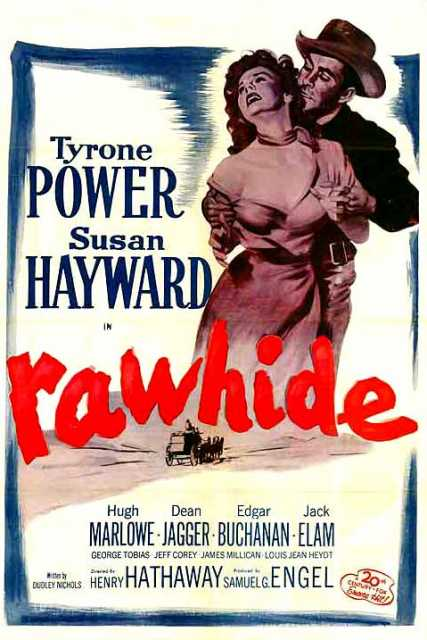 Poster von Rawhide, © 20th Century-Fox Film Corporation,