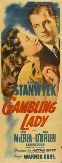 Poster von Gambling Lady, © First National Pictures Inc., Warner Bros. Pictures, Inc.,
