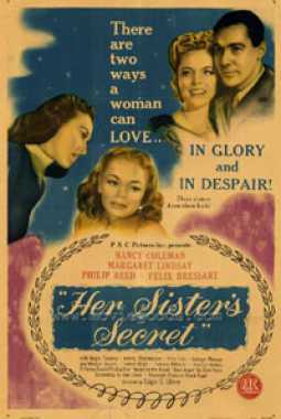 Poster von Her sister's secret, © Producers Releasing Corporation,  Archiv KinoTV