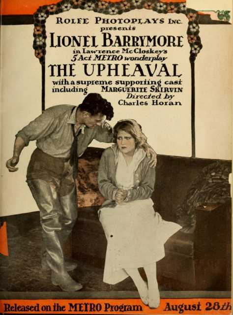 Poster von The Upheaval, © Rolfe Photoplays, Inc., Metro Pictures Corporation,
